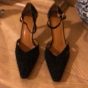Gucci suede heels.